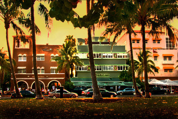 Photograph - South Beach Ocean Drive by Steven Sparks