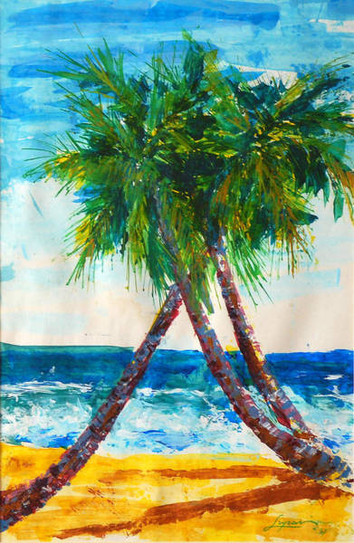 Painting - South Beach Palms by Thomas Lupari