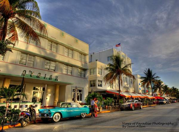 South Beach Park Central Hotel Art Print