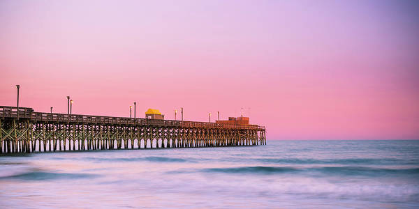 Photograph - South Carolina Apache Pier Sunset Panorama by Ranjay Mitra