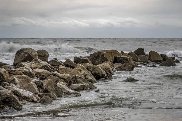 Photograph - South Carolina - Folly Beach - Crashing Waves On Rocks by Ron Pate