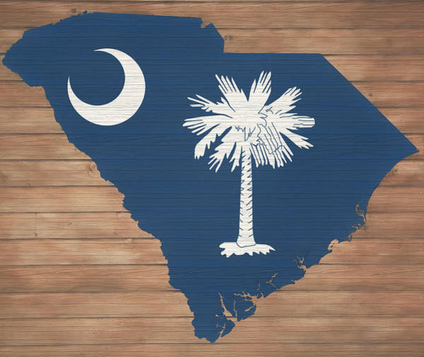 Wall Art - Mixed Media - South Carolina Rustic Map On Wood by Dan Sproul