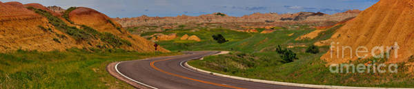 Photograph - South Dakota Badlands Highway by Adam Jewell
