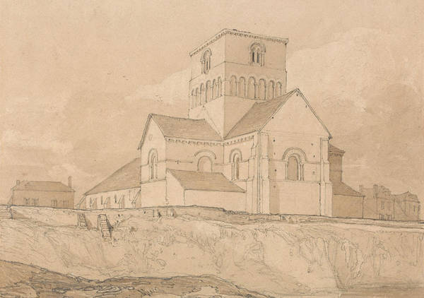 Drawing - South-east View Of The Church Of Lery by John Sell Cotman