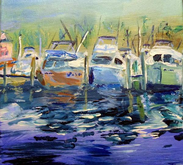 Oak Harbor Painting - South Harbor Dawn by Max Bowermeister