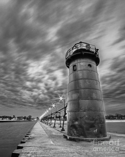 South Haven Wall Art - Photograph - South Haven Light In Black And White by Twenty Two North Photography