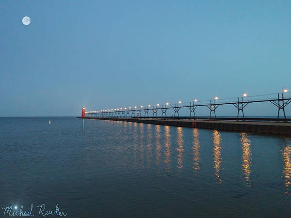 Lighthouse Wall Art - Photograph - South Haven Lighthouse by Michael Rucker