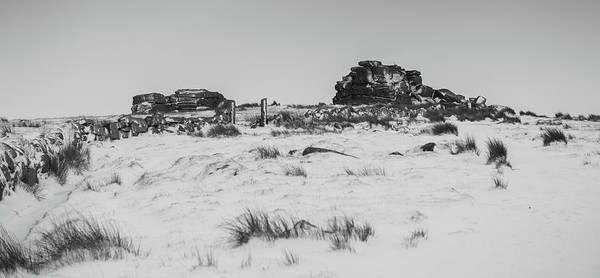 South Hessary Tor In The Snow Art Print