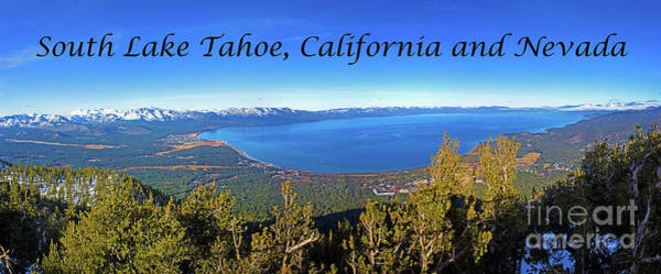 Photograph - South Lake Tahoe, Ca And Nv by G Matthew Laughton