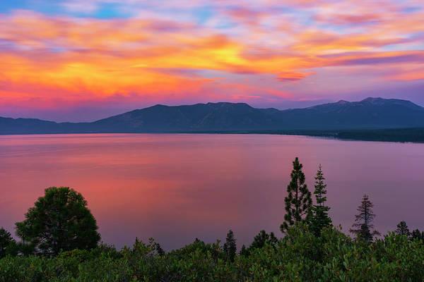 Photograph - South Lake Tahoe Sunset By Brad Scott by Brad Scott