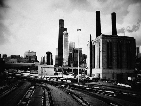 Art Print featuring the photograph South Loop Railroad Yard by Kyle Hanson