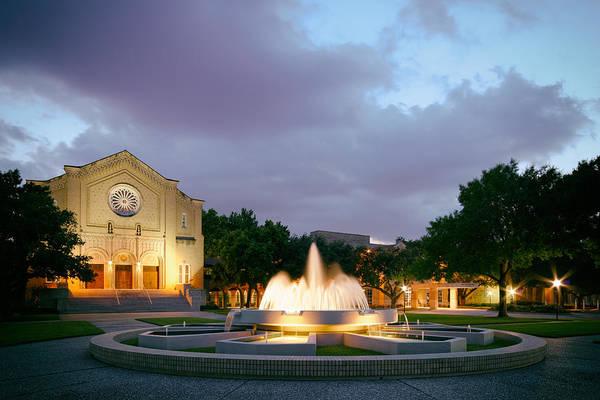 Photograph - South Main Baptist Church At Twilight - Midtown Houston Texas by Silvio Ligutti