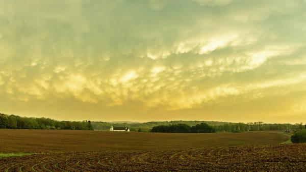 Thunder Storm Over A Pennsylvania Farm Art Print