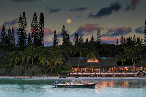 South Pacific Moonrise Art Print