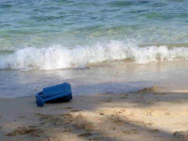 Photograph - South Palm Beach - Blue Watering Can by Karen Zuk Rosenblatt