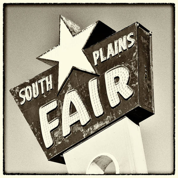 Fair Ground Photograph - South Plains Fair - Sepia by Stephen Stookey