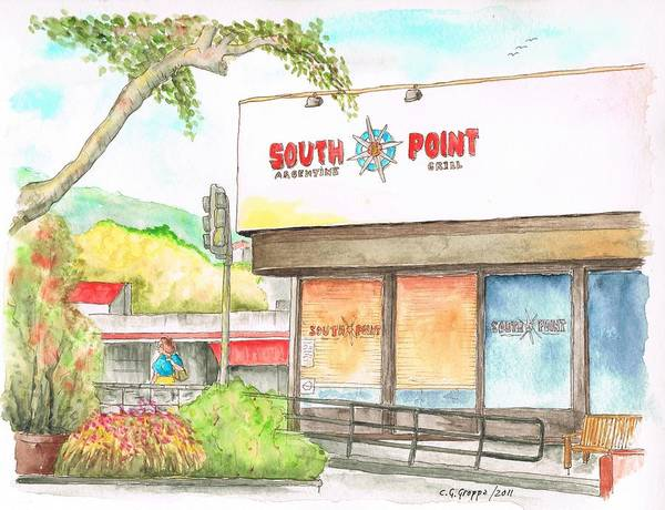 West Point Painting - South Point Restaurant, West Hollywood, California by Carlos G Groppa