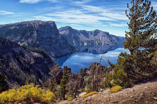 Photograph - South Rim Of Crater Lake by Frank Wilson