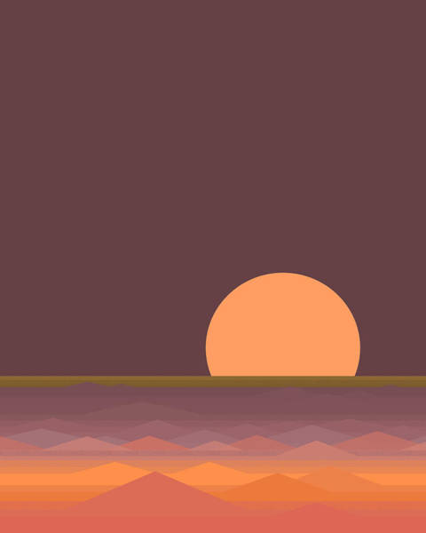 Digital Art - South Seas Moonrise - Vertical by Val Arie