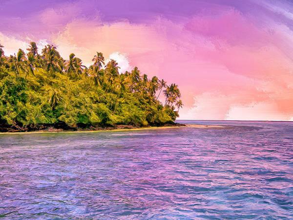 Fatu Hiva Wall Art - Painting - South Seas Sunset by Dominic Piperata