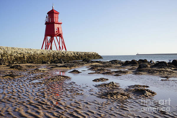 North Sea Photograph - South Shields Groyne by Smart Aviation