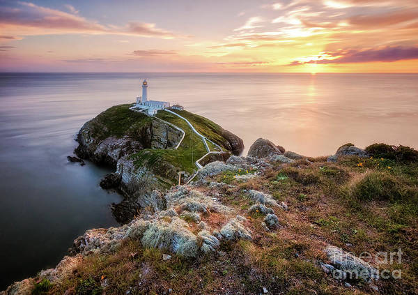 Photograph - South Stack During Sunset by Mariusz Talarek