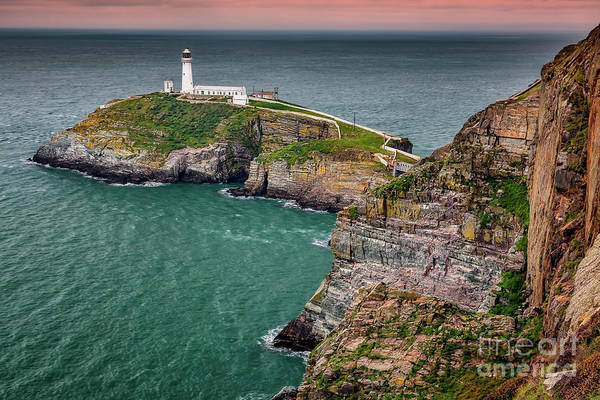 Photograph - South Stack Lighthouse Anglesey by Adrian Evans