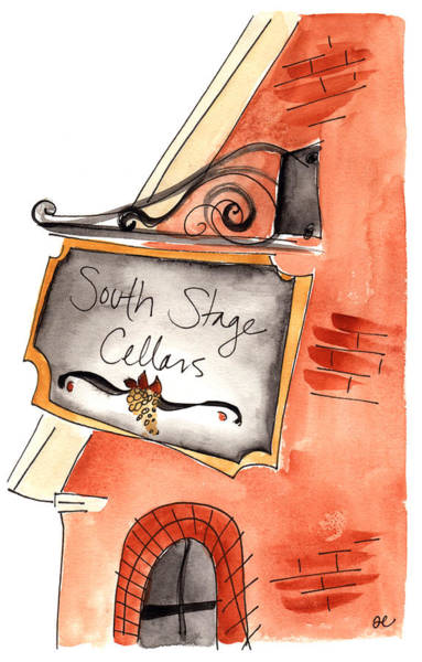 Painting - South Stage Cellars by Anna Elkins