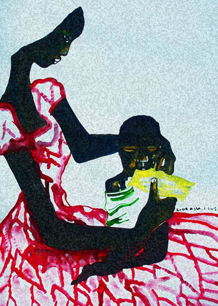 Painting - South Sudan War Child  by Gloria Ssali