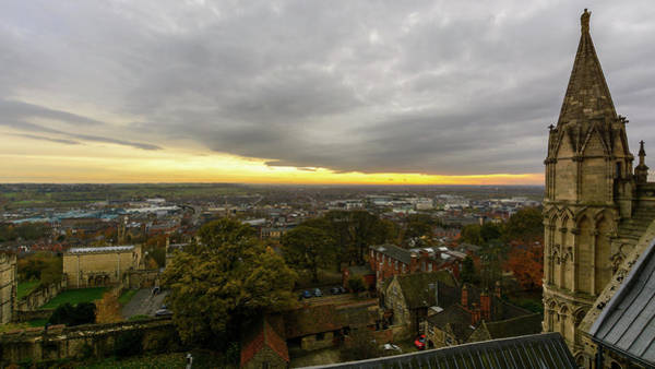 Photograph - South View Of Lincoln, England by Jacek Wojnarowski