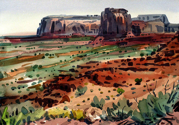 Butte Painting - South Vista by Donald Maier