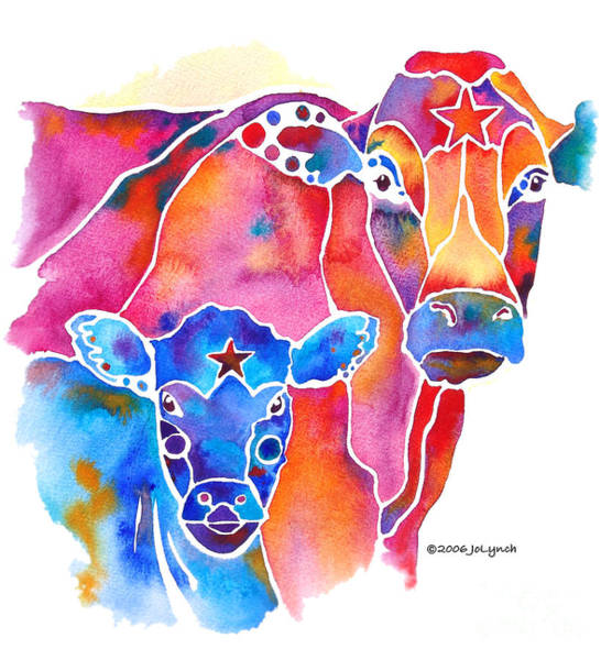 Painting - South West Cow And Calf by Jo Lynch