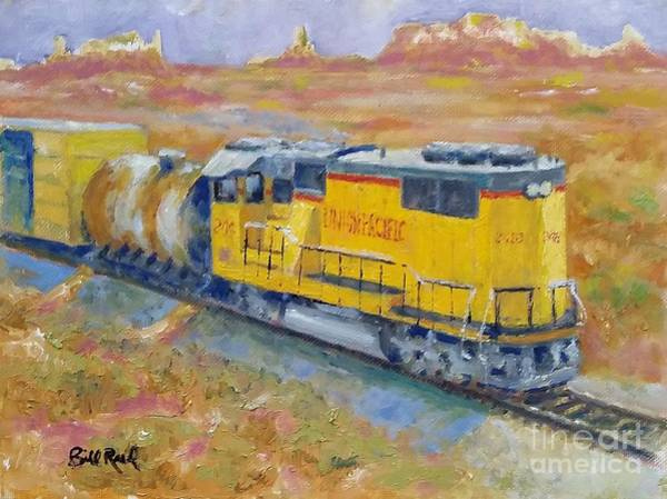 Freight Trains Painting - South West Union Pacific by William Reed