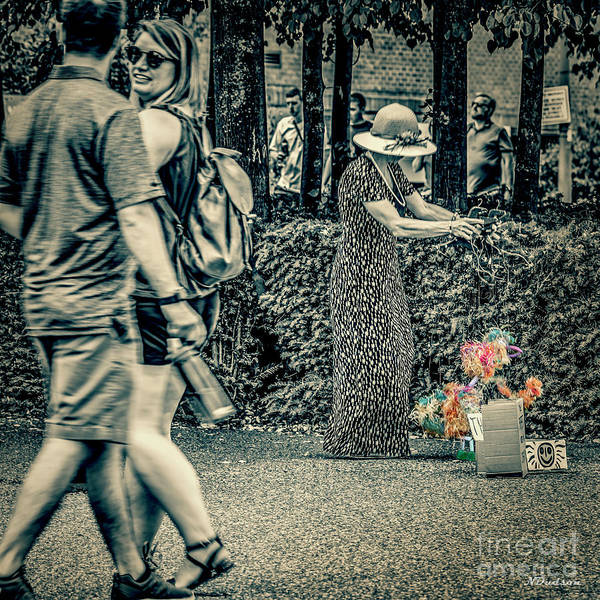 Photograph - Southbank Puppet Lady by Nigel Dudson