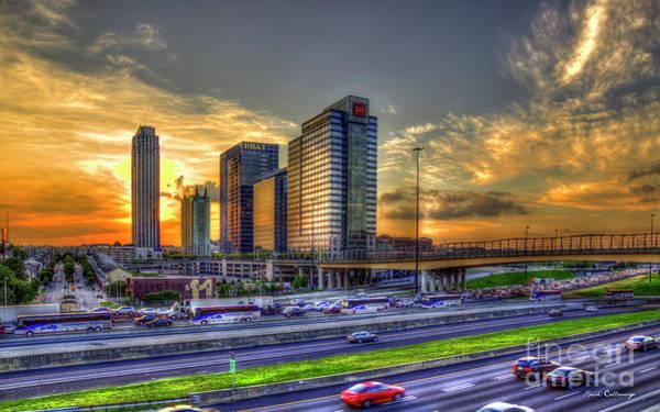 Atlanta Symphony Orchestra Photograph - Southbound Traffic Atlanta Midtown Sunset Art by Reid Callaway