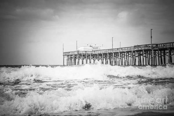 Wall Art - Photograph - Southern California Pier Black And White Picture by Paul Velgos