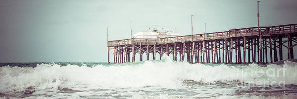 Underneath Photograph - Southern California Pier Retro Panorama Photo by Paul Velgos