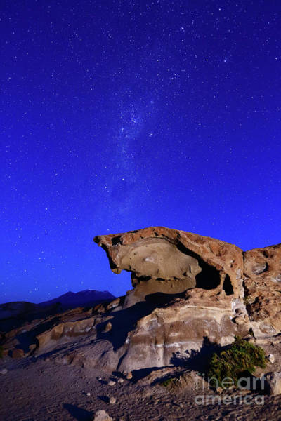 Photograph - Southern Cross And Lava Rock Formation North Lipez Bolivia by James Brunker