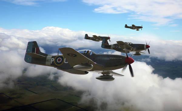Royal Air Force Digital Art - Southern Cross Mustangs by Mark Donoghue