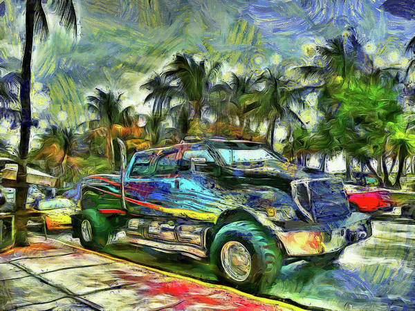 Super Car Mixed Media - Southern Expression by Reese Lewis