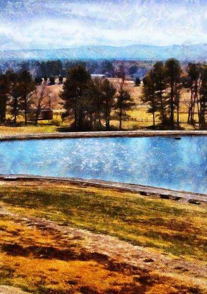 Digital Art - Southern Farmlands by JGracey Stinson