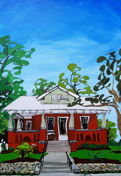 Painting - Southern Home by John Gibbs