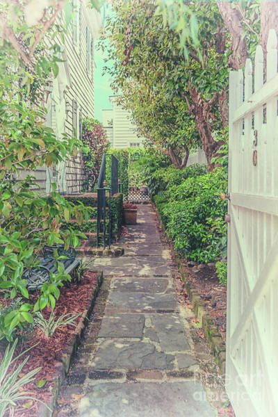Photograph - Southern Magical Charleston Garden Side Entrance by Dale Powell