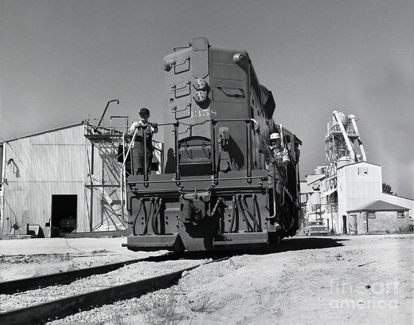 Photograph - Southern Pacific Gp9e Locomotive  At The  Del Monte Sand Plant At Spanish Bay 1972 by California Views Archives Mr Pat Hathaway Archives