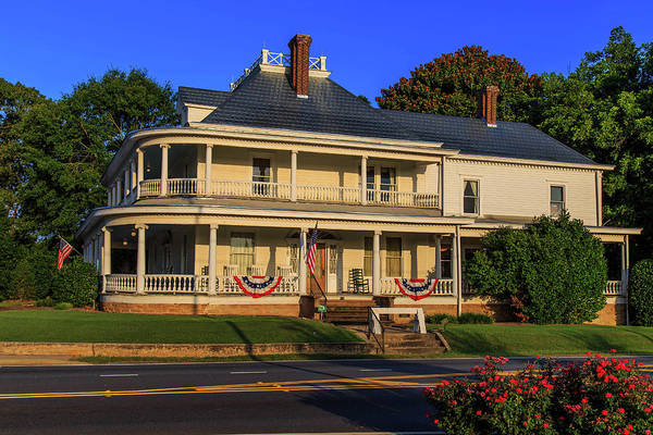 Photograph - Southern Patriotic Home by Doug Camara