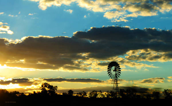 Photograph - Southern Queensland Windmill by Susan Vineyard