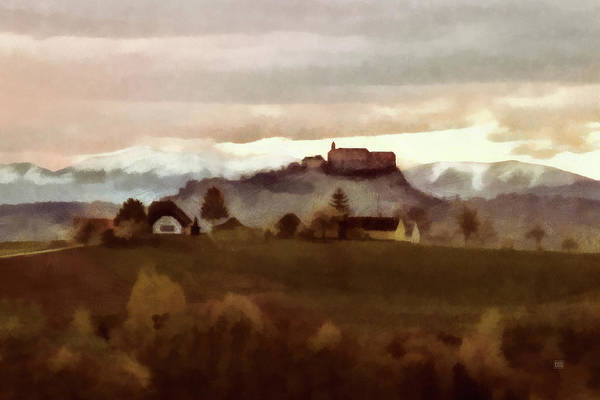 Painting - Southern Styria With Castle Riegersburg by Menega Sabidussi