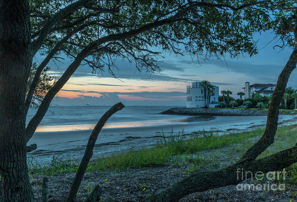 Photograph - Southern Sunrise Over Breach Inlet by Dale Powell