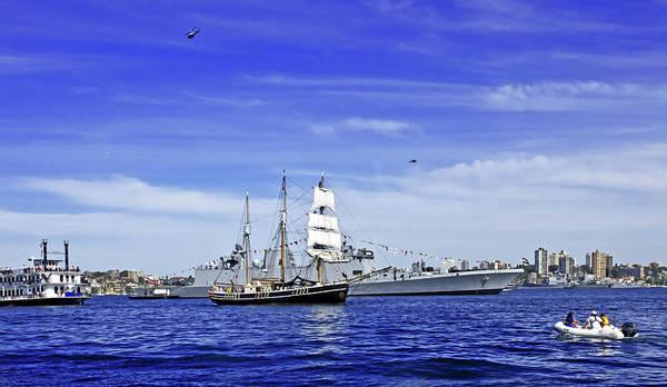 Swan Boats Photograph - Southern Swan In Navy Fleet Review In Sydney by Miroslava Jurcik