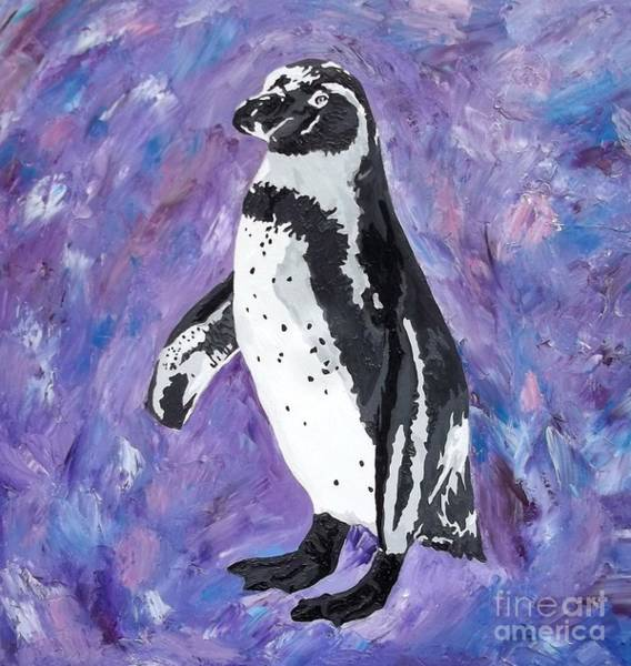 African Penguin Painting - Southern Sweetheart by Amy Pugh